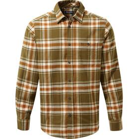 Craghoppers Wilmot Camisa Manga Larga Hombre, woodland green check